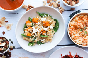 Caramelised Pumpkin Risotto w/ Feta & Spinach