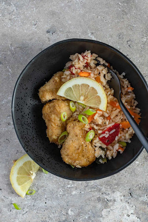 Lemon Crumbed Chicken & Veg Rice