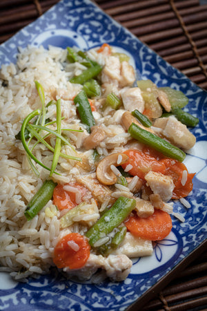 Cashews Chicken & Veg with Rice