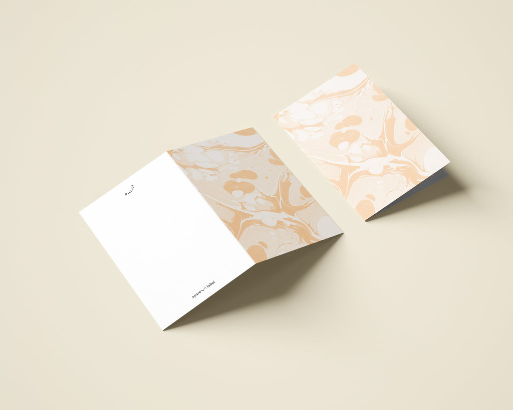 Marbled Notecard with Envelope - Peach