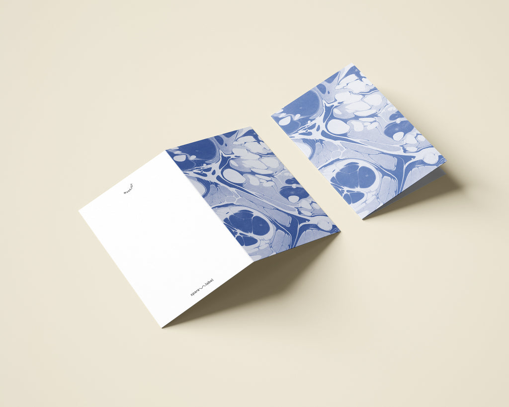 Marbled Notecard with Envelope - Periwinkle