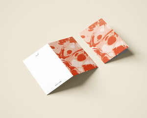 Marbled Notecard with Envelope - Poppy
