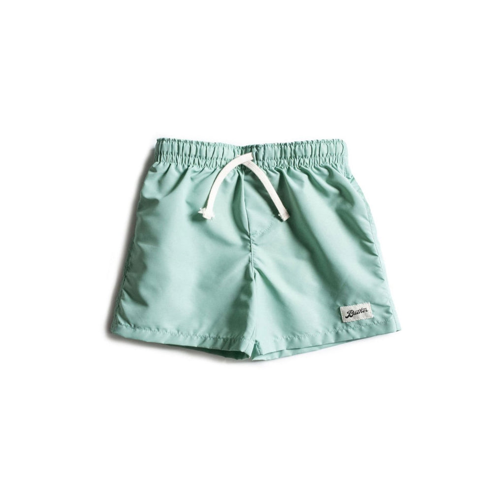 Kids' Solid Sea Foam Swim Trunk