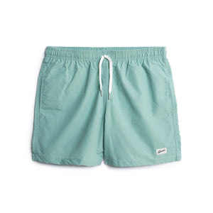 Solid Sea Foam Mens Swim Trunk