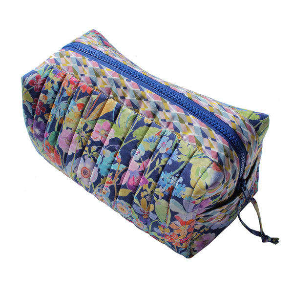 Blue garden-Toilet box bag-Medium