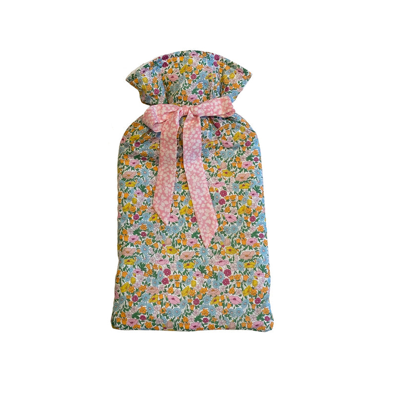 Small Orange flower garden - Liberty hot water bottles