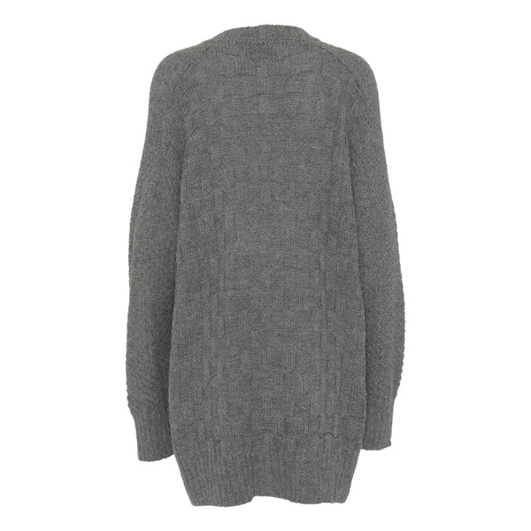 Hand knitted alpaca cardigan-Grey