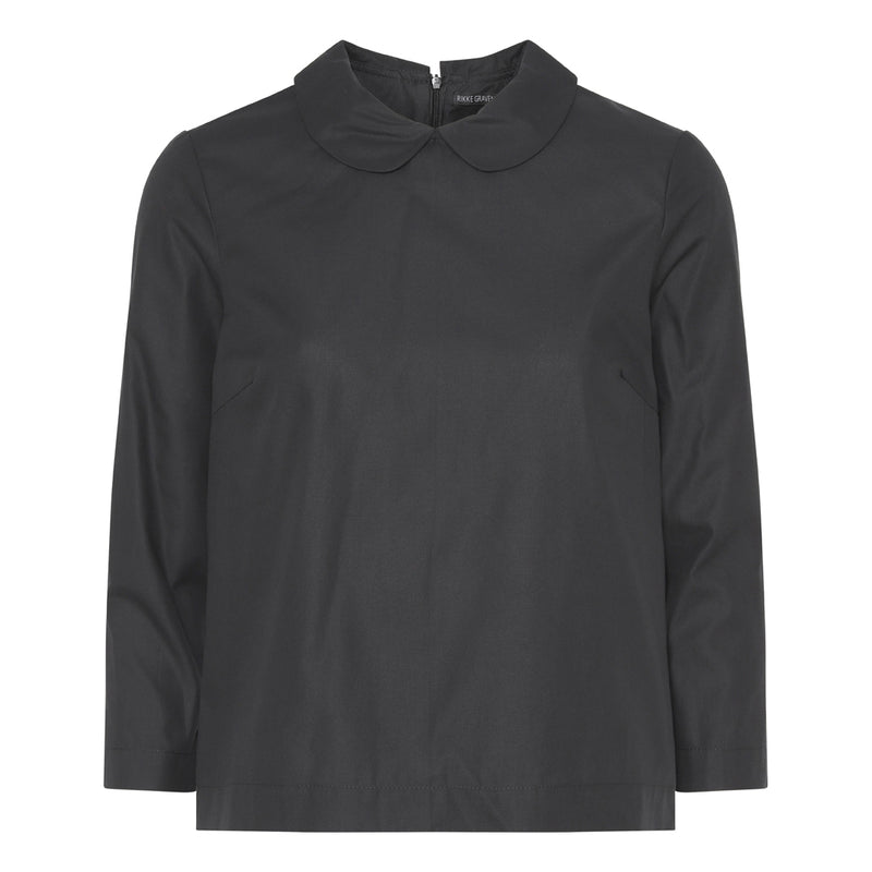Sophia blouse - organic cotton - Black