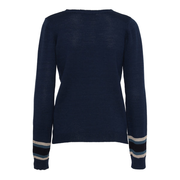 Blue Merino wool sweater