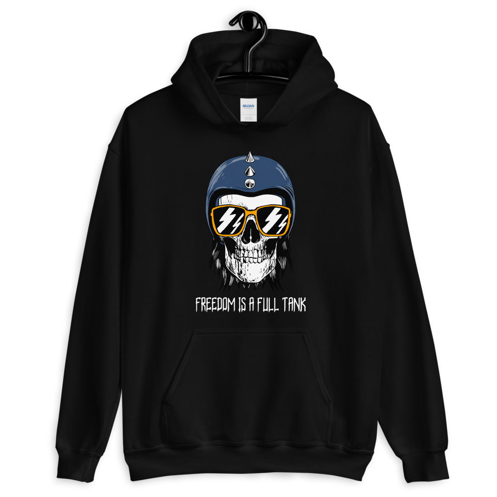 Freedom is a Full Tank - Biker Hoodie - Black, City Radical, Biker Store