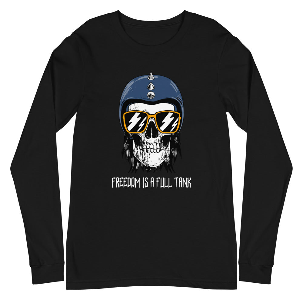 Freedom is a Full Tank - Biker Long Sleeve Shirt - Black, City Radical, Biker Store