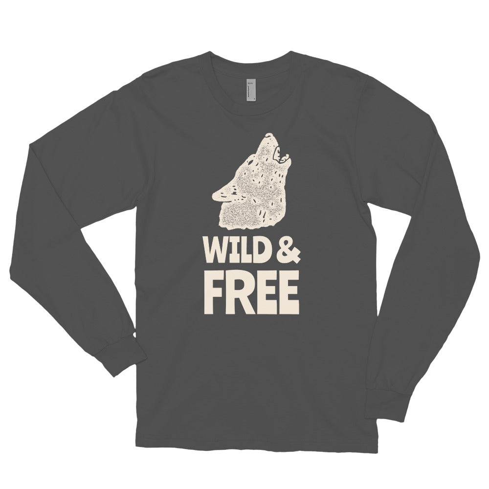 Wild and Free - Biker Long Sleeve T Shirt,  - City Radical