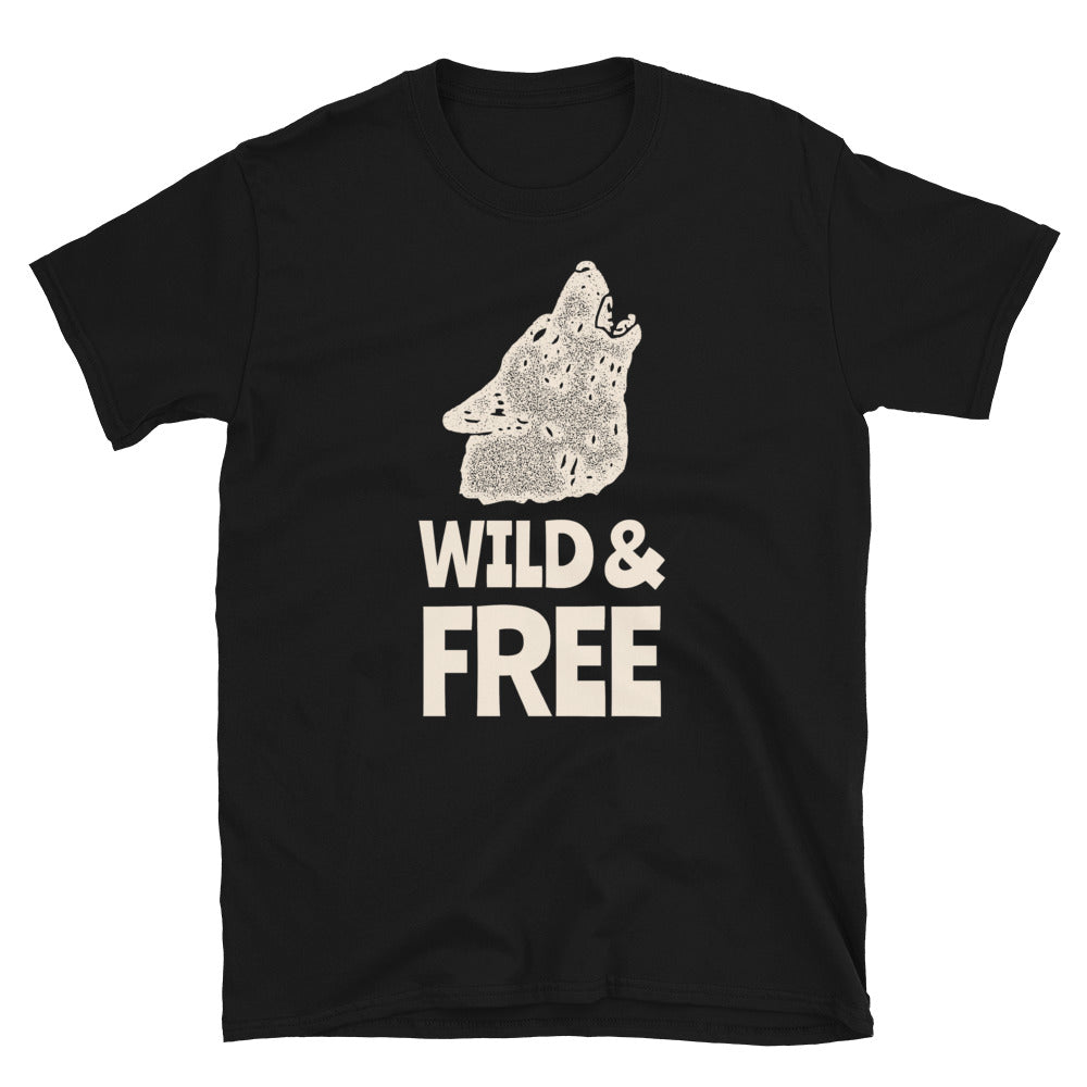 Wild and Free - Biker T Shirt,  - City Radical