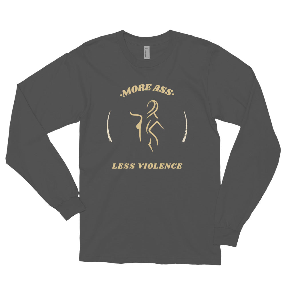 More Ass - Biker Long Sleeve T Shirt,  - City Radical