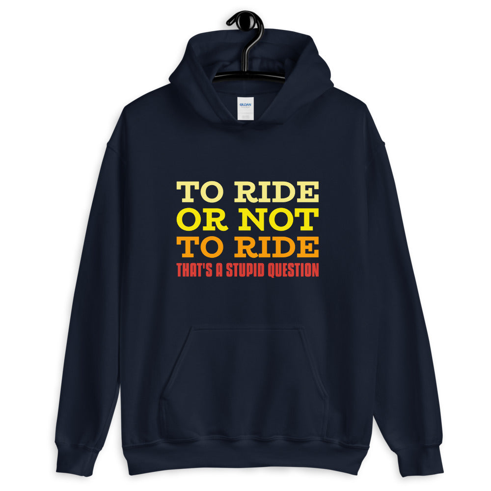 To Ride or Not to Ride - Biker Hoodie - Blue, City Radical, Biker Store