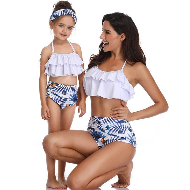 Women Swimsuit Children Baby Kid Beachwear