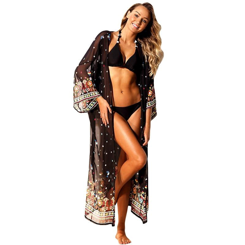 Wome Chiffon Cover Up Bikini Beachwear