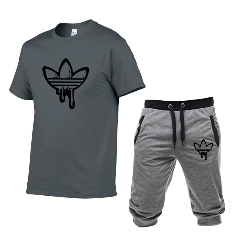 Men's Short Sleeve T-Shirts+pants Sets