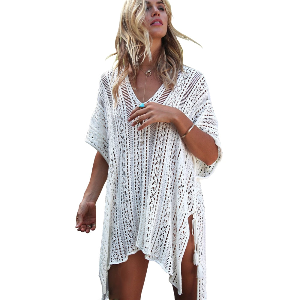 Women Sleeve Coverups Bikini Beachwear