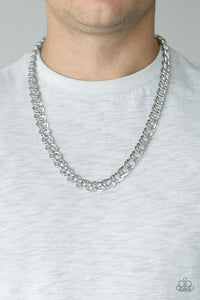 Undefeated - Silver Mens Necklace