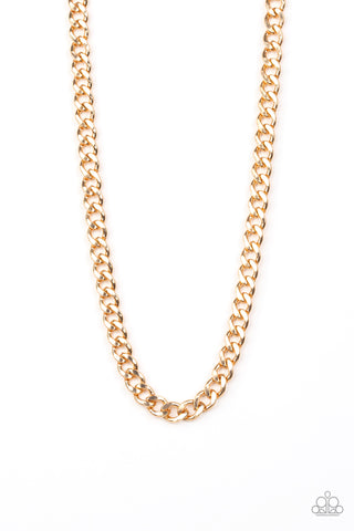 Alpha - Gold Mens Necklace