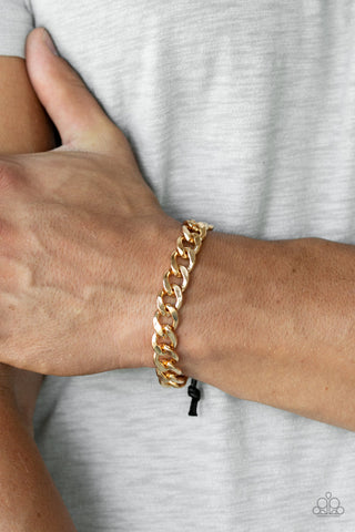 Renegade - Gold Mens Bracelet