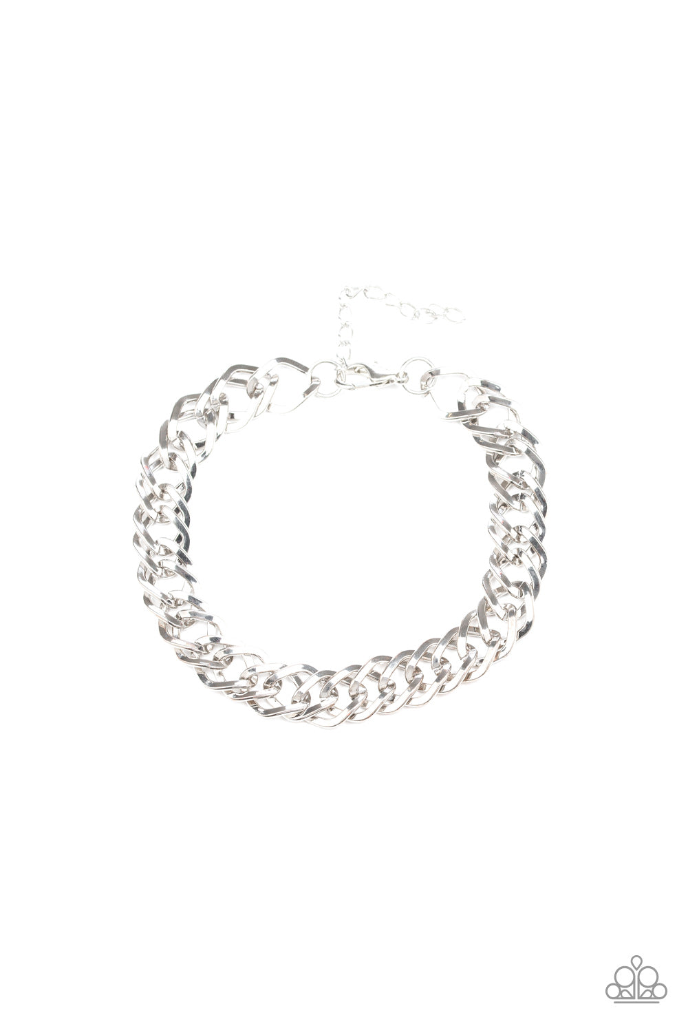 On The Ropes - Silver Mens Bracelet