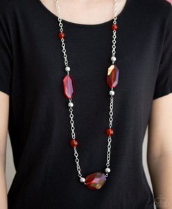 Crystal Charm-Red Necklace