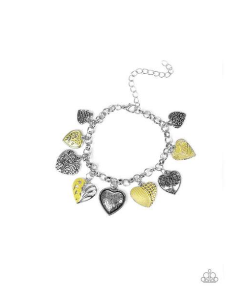 Garden Hearts-Yellow Bracelet