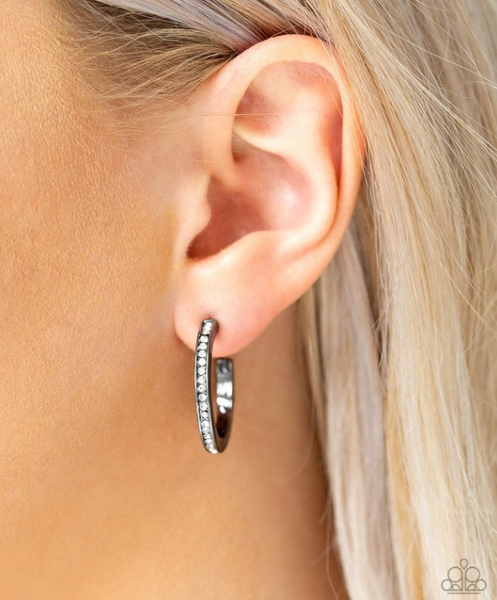Hoop Haven-Black Earring