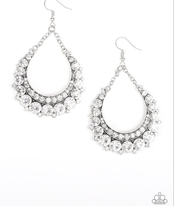 Once In A Showtime-White Earring