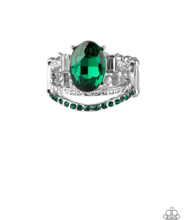 Spectacular Sparkle-Green Ring