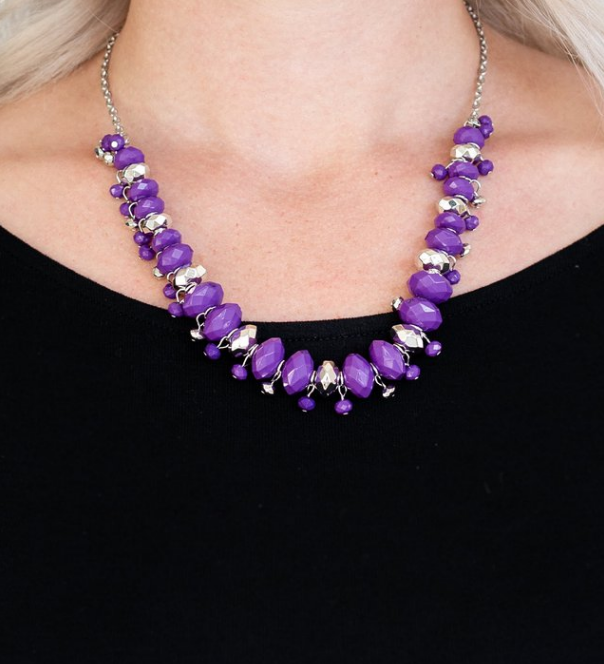 BRAGs To Riches-Purple Necklace