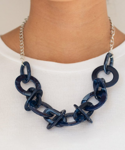 Chromatic Charm-Blue Necklace