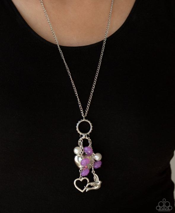 I Will Fly- Purple Necklace