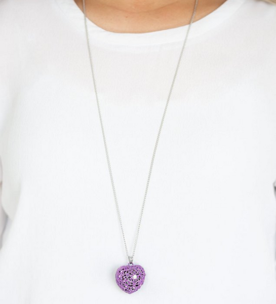 Love Is All Around-Purple Necklace