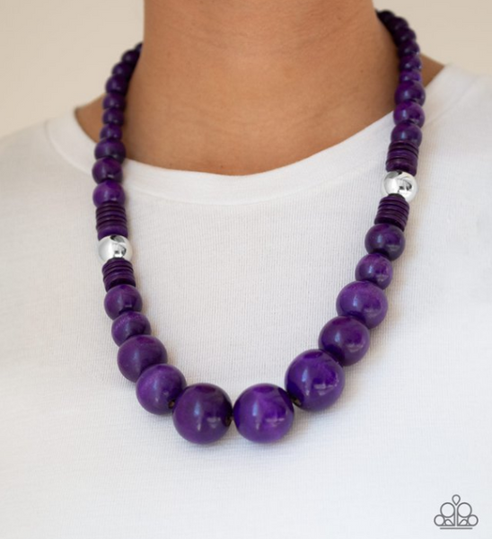Panama Panorama-Purple Necklace