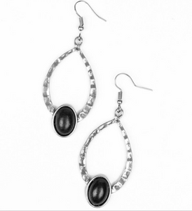 Pony Up-Black Earring