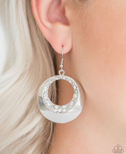 Ringed In Refinement-White Earrings