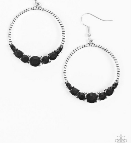 Self-Made Millionaire-Black Earrings