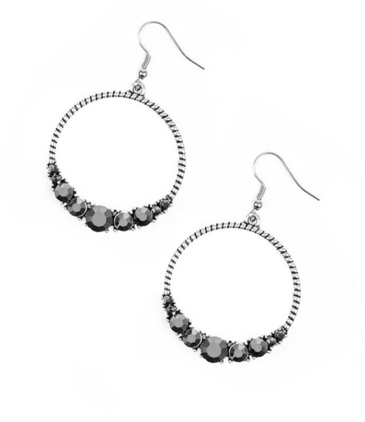 Self-Made Millionaire Silver Earrings