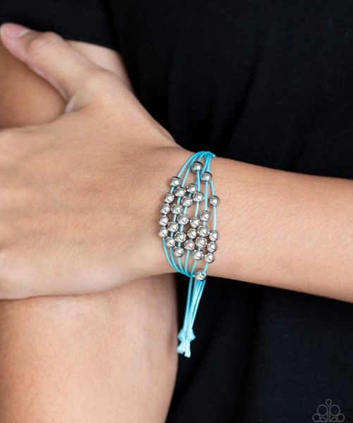 Without Skipping A Bead-Blue Bracelet