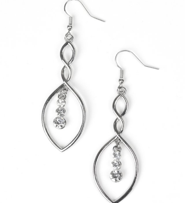 Timeless Twist-White Earring
