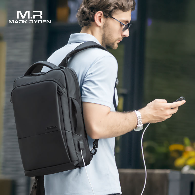 Mochila Mark Ryden Anti Furto USB Notebook Impermeável