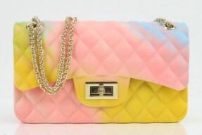TANGDE 2019 Rainbow Mini Candy Purse Jelly Pack Ling Plaid Chain Shoulder luxury handbags women bags designer