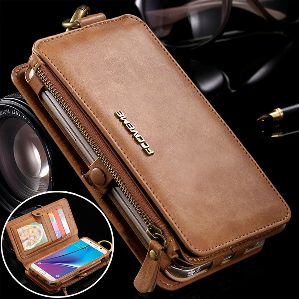 Leather Wallet Case for Samsung Galaxy Note 9 8 5 S10E S10 S9 S8 Plus S7 Edge Phone Case for iPhone 11 Pro XS Max XR 8 7 6S Plus