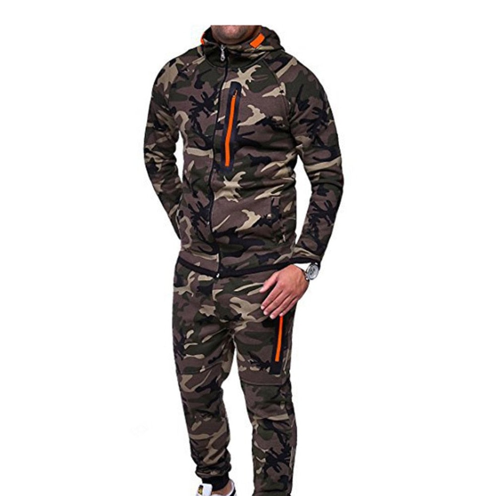 Fashion Men Suits Camouflage Clothing Popular Hoodie Jacket Tops Long Pants  Casual Outdoor Tracksuit Sportswear dropshipping 030f806fa
