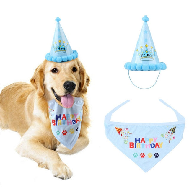 Load Image Into Gallery Viewer 1 Set Pet Dogs Caps Cat Dog Birthday Headwear