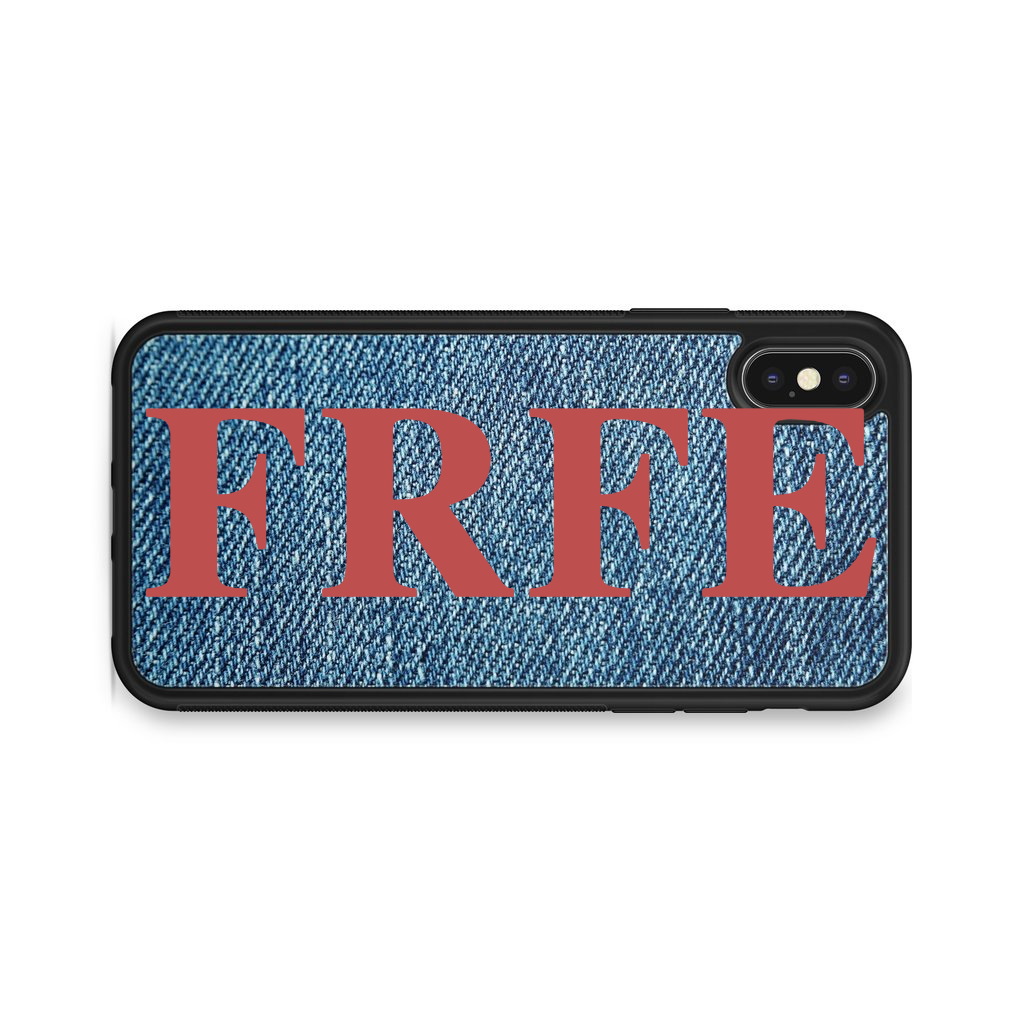 VERTICAL ENORMOUS INITIALS JEANS BACKGROUND CASE