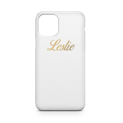 CLEAR SOFT CASE WITH GOLDEN SCRIPT NAME